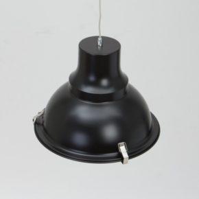 Industrielamp Mento zwart detail bovenkant