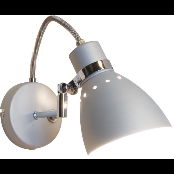 Brent grijze industrie wandlamp