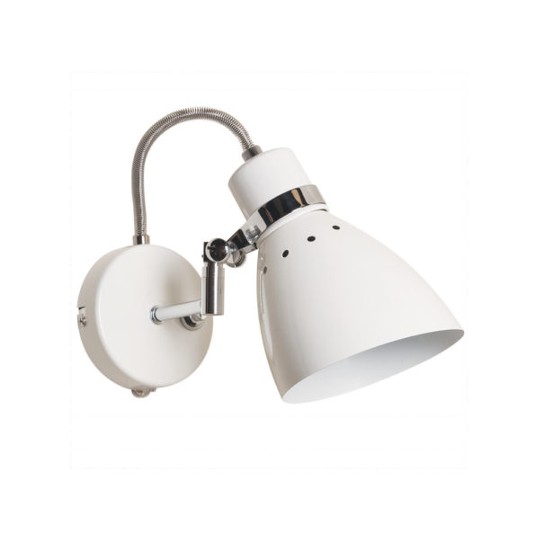 Brent wandlamp industrieel wit