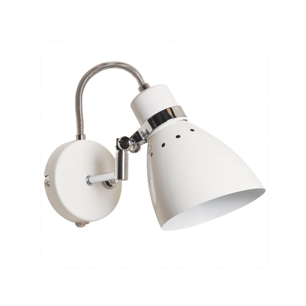 Bekend Bret industriële wandlamp in het wit. ZZ92