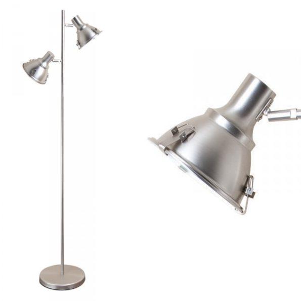 Dubbele fabrieks vloerlamp