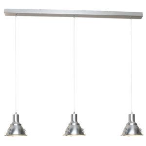 3 industriele lampen, lampen balk, plafondbalk