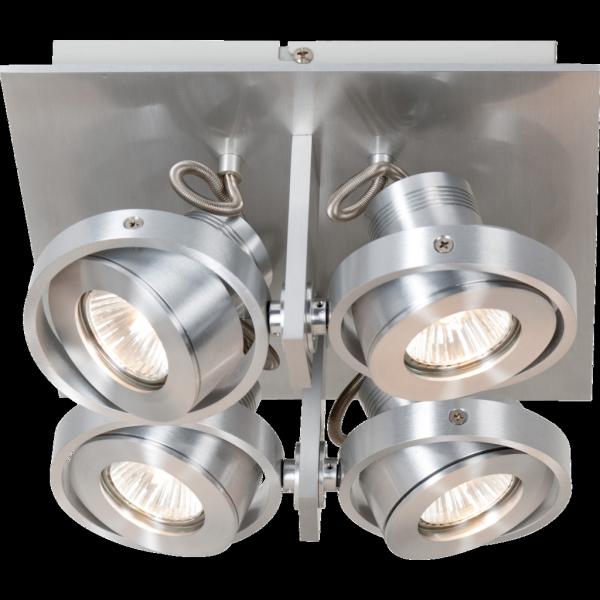 Robuuste industrie spot 4 lichtpunten industri le lampen for Industriele spots
