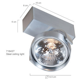 industriele wandlamp staal