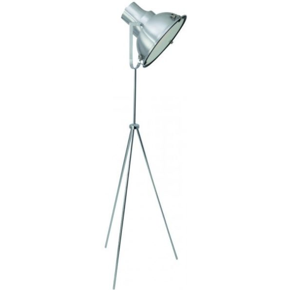industriële vloerlamp driepoot staal