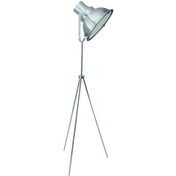industriële vloerlamp driepoot staal, Industriële lampen
