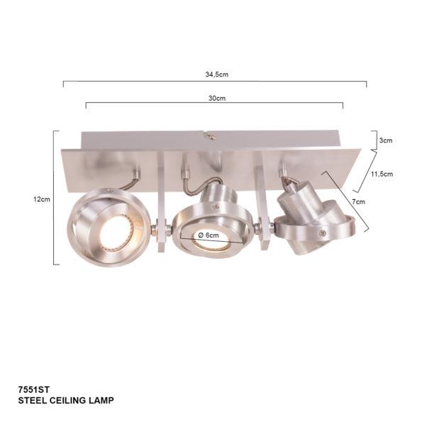 3 lichts- spots, leds, ledlampen, ledjes