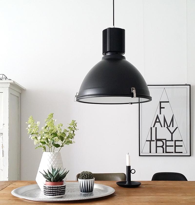 Zwarte stoere industrie hanglamp industri le lampen online for Stoere industriele wandlampen