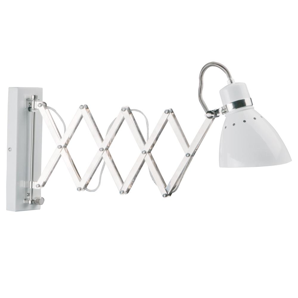 Bekend Witte industrie wandlamp Milton schaar SQ24
