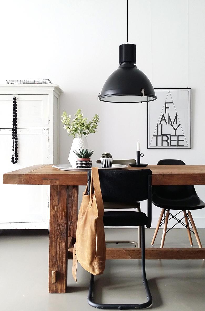 Zwarte stoere industrie hanglamp- Industriële lampen online