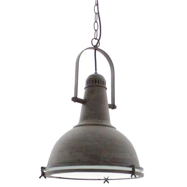 Landelijk beige oude industriele hanglamp