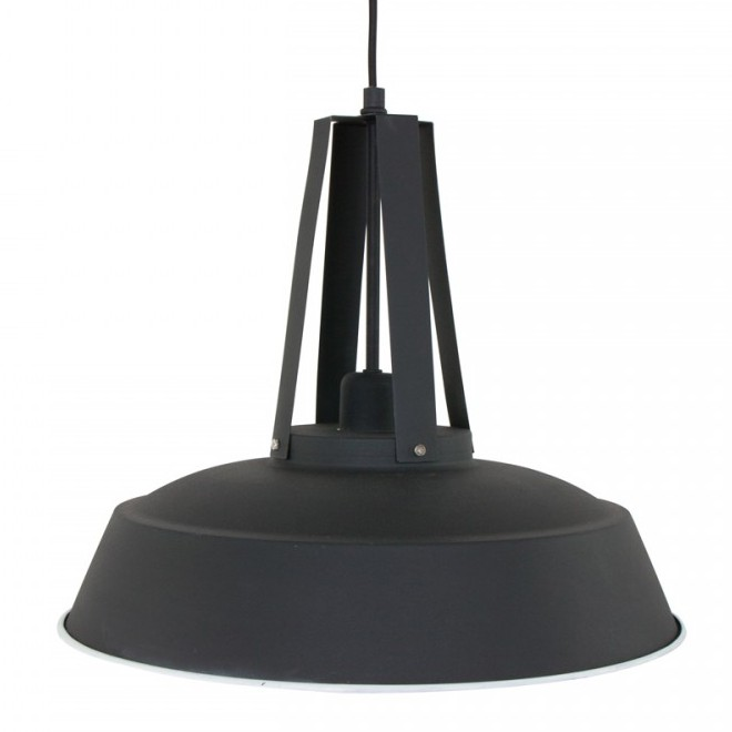 Stoere zwarte industriele lamp industrielamp zwart for Lamp industrieel