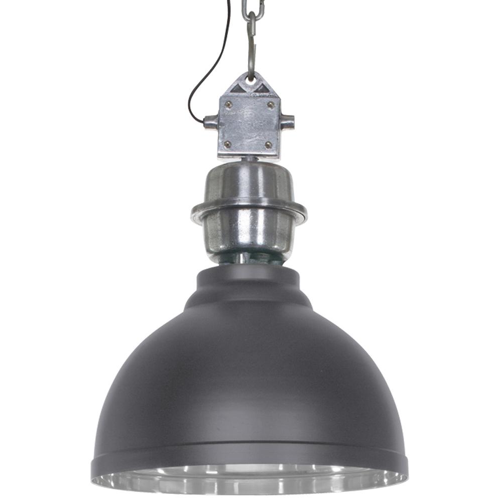 stoere industri le hanglamp grijs clinton 35cm. Black Bedroom Furniture Sets. Home Design Ideas