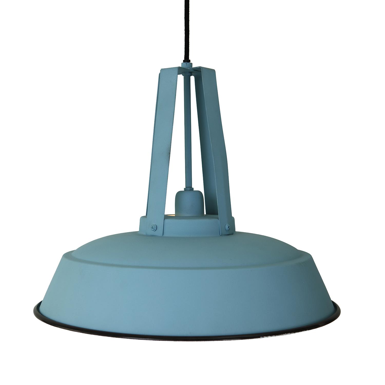 zacht blauwe industriele hanglamp aanbieding. Black Bedroom Furniture Sets. Home Design Ideas