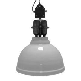 Industriele witte hanglamp - stalen ketting