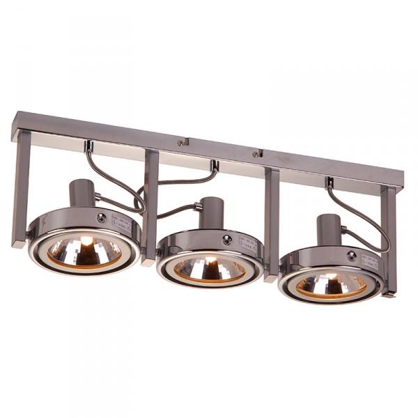 Moderne grote industri le plafondlamp met 3 spots for Industriele spots