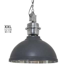 Industriele hanglamp Rome XXL grijs