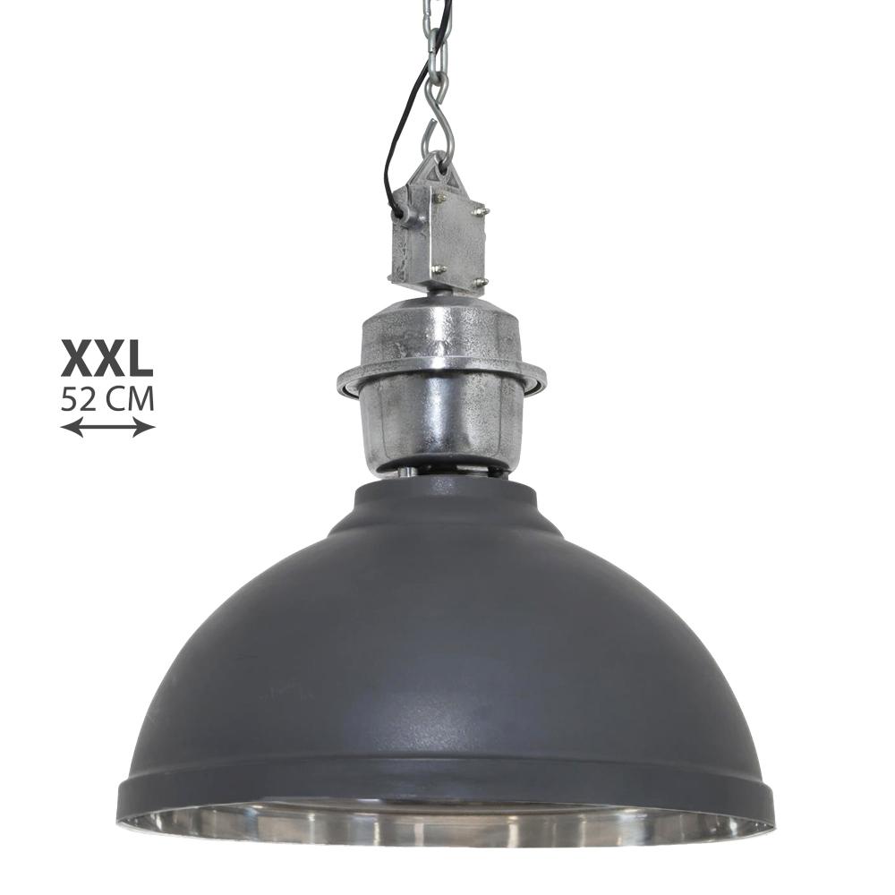 zeer grote industri le hanglamp grijs rome. Black Bedroom Furniture Sets. Home Design Ideas