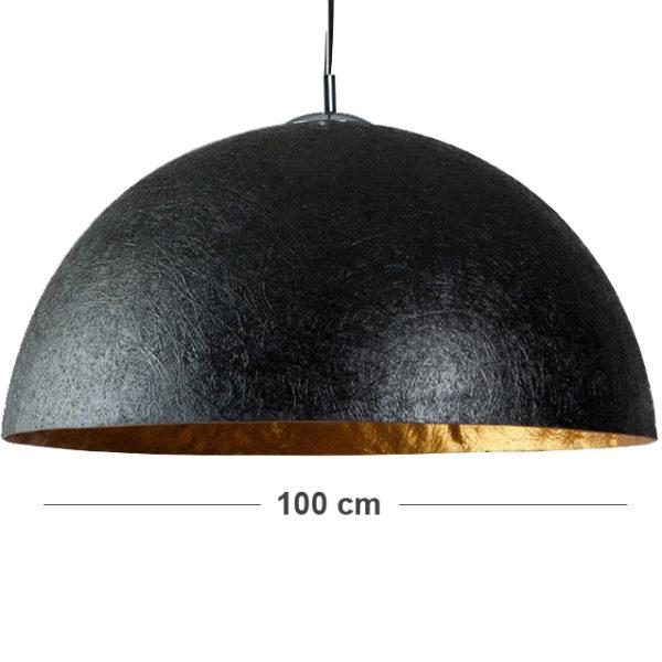 Grote-XXL-hanglamp-zwart-met-goud
