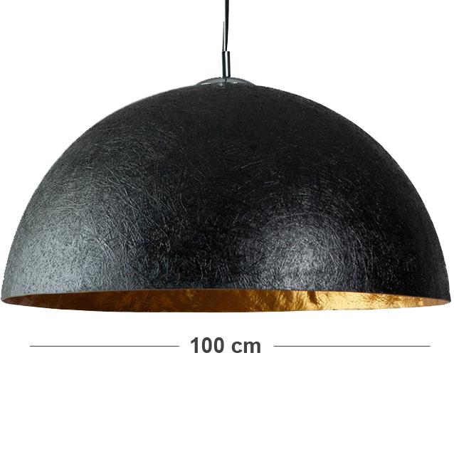 Hanglamp hanglamp goud : XXL hanglamp 100 cm zwart met gouden binnenkant
