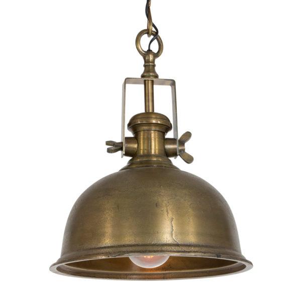 hanglamp, brons, klokvorm