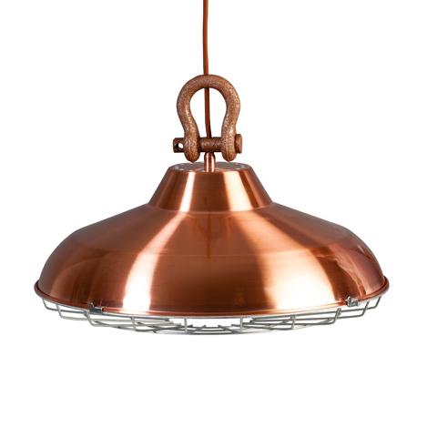 Trendy koperkleurige hanglamp