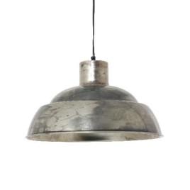 Hanglamp in het oud nikkel met gezellige uitstraling.