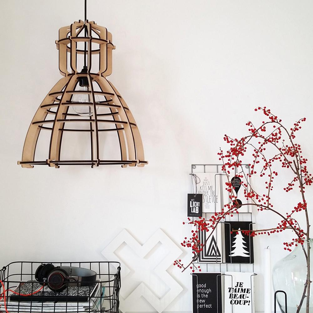 houten hanglamp industrieel. Black Bedroom Furniture Sets. Home Design Ideas