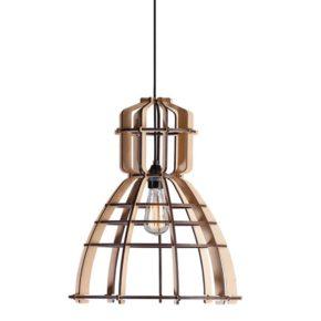 Stoer hanglamp hout