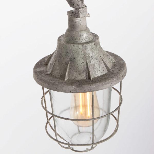storm, medium, grijs, gevlekte lamp, oude lantaarn