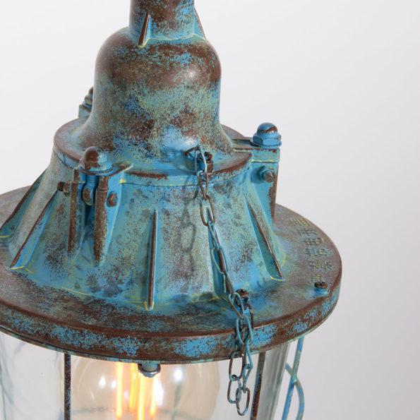 storm blauw, hanglamp, industrieel, lantaarn