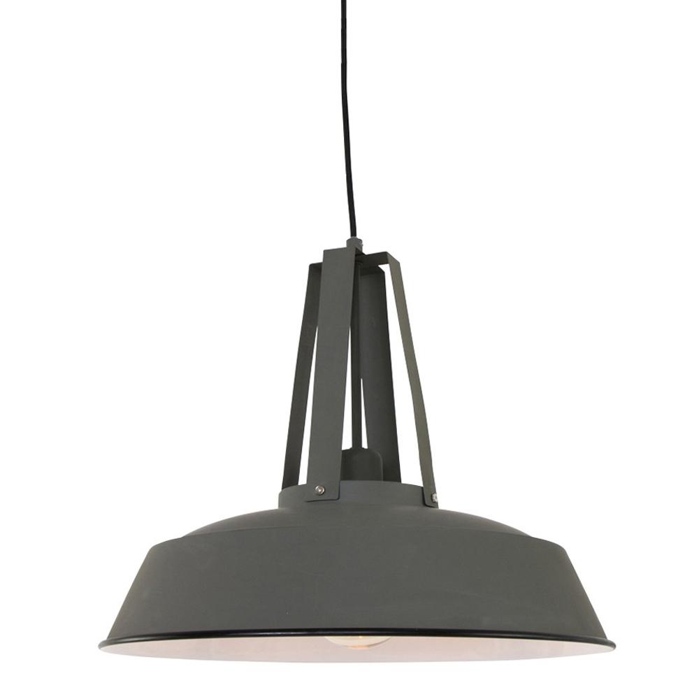 Kleine grijze hanglamp juvo industrieel for Kleine industriele hanglamp