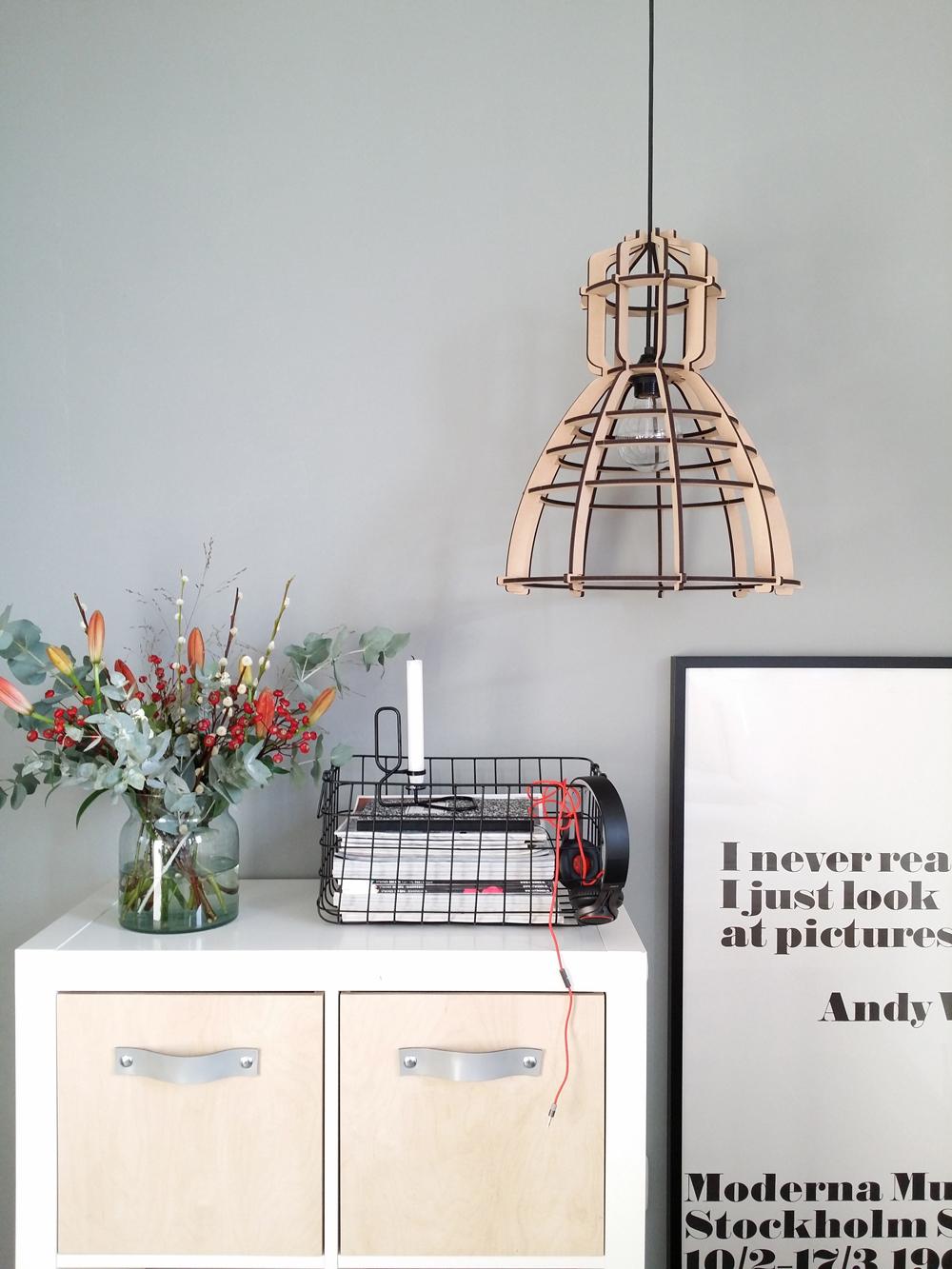 Lichtlab-houten industriele hanglamp