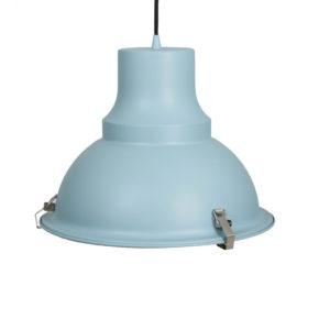 Industriële hanglamp Mento blauw