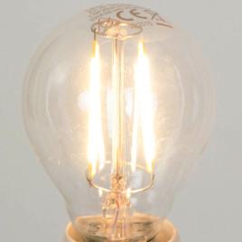 Led-filament, gloeilamp, brandend, sfeer