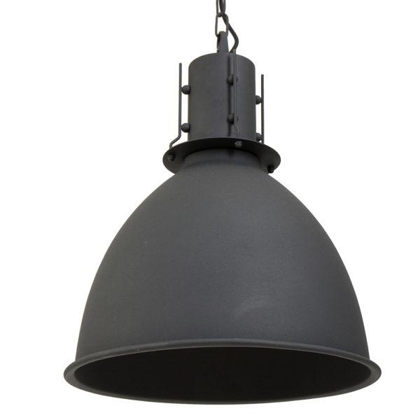 Zwarte stoere industriele hanglamp