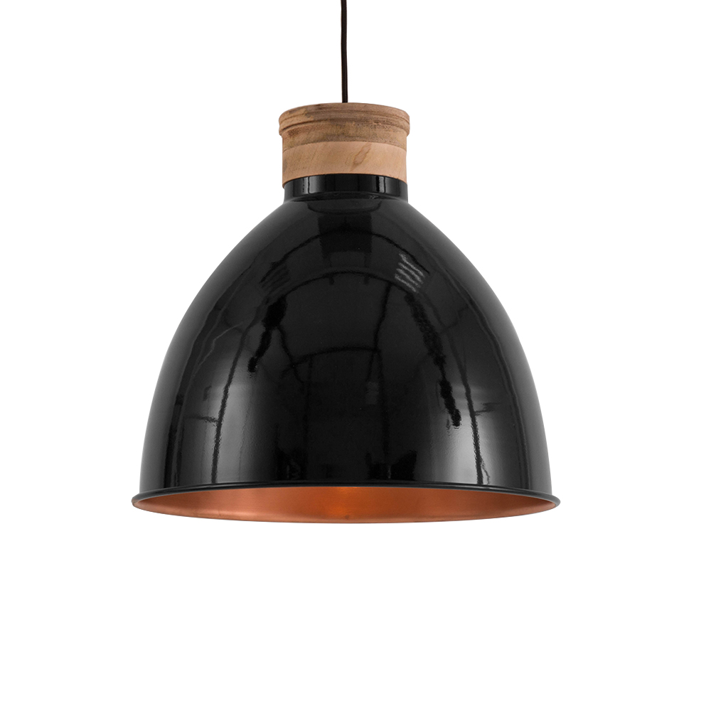 scandinavische hanglamp jetvik zwart 42 cm. Black Bedroom Furniture Sets. Home Design Ideas