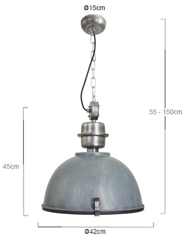 robuuste hanglamp grijs