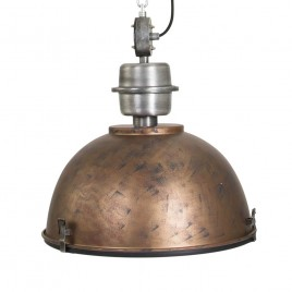 Hanglamp industrieel Core oud bruin Ø42cm