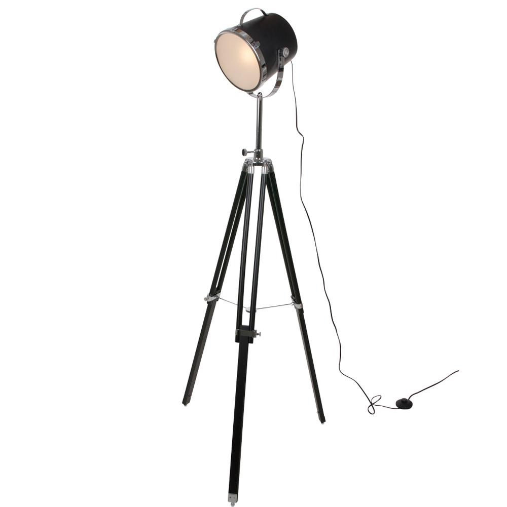 Industriele vloerlamp triangle zwart 21 cm industriele for Lamp industrieel