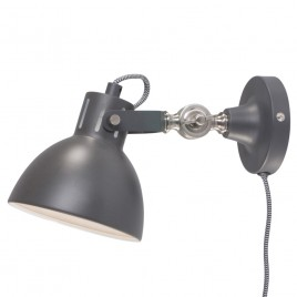 Industriële wandlamp Do grijs