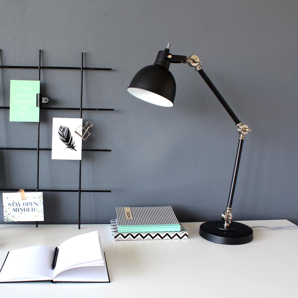 Industri le bureaulamp do zwart industriele lampen online for Industriele bureaulamp