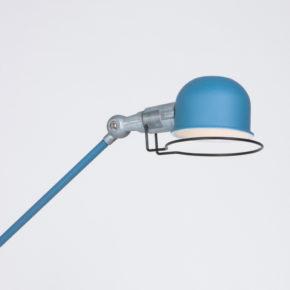 Industriele vloerlamp Blauw