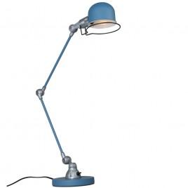 Blauwe industriële bureaulamp Jip
