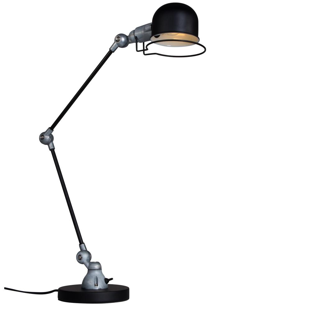 Industri le bureaulamp jip zwart for Industriele bureaulamp