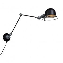 Zwarte Industriële wandlamp Jip