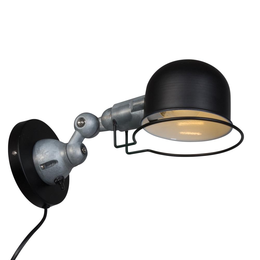 Stoere wandlamp jip zwart industriele lampen online for Stoere industriele wandlampen