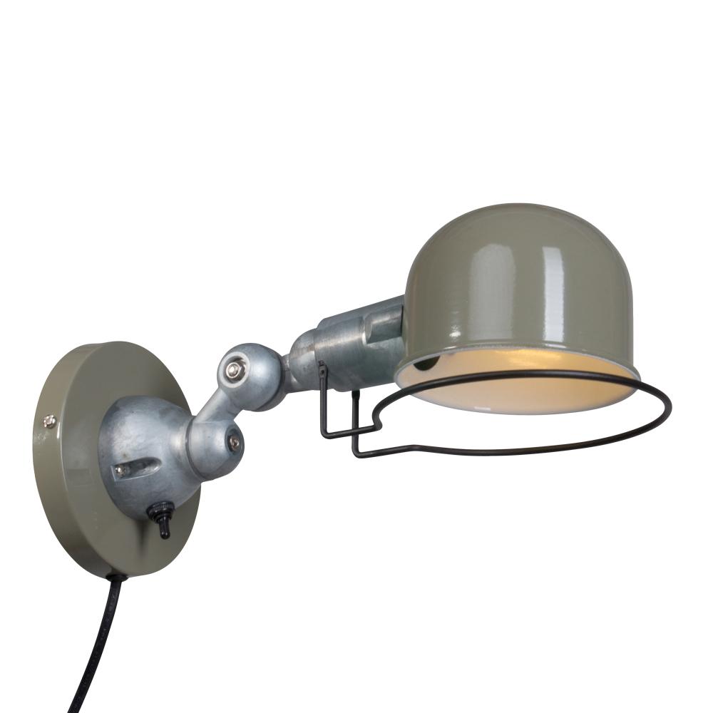 Groene wandlamp jip industriele lampen online for Stoere industriele wandlampen