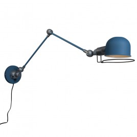 Industriële wandlamp Jip blauw