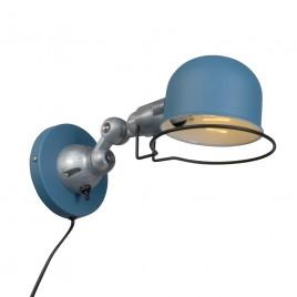 Blauwe industriële wandlamp Jip